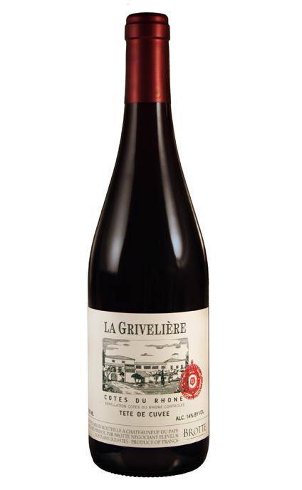 LA GRIVELIÈRE COTES DU RHONE RED WINE